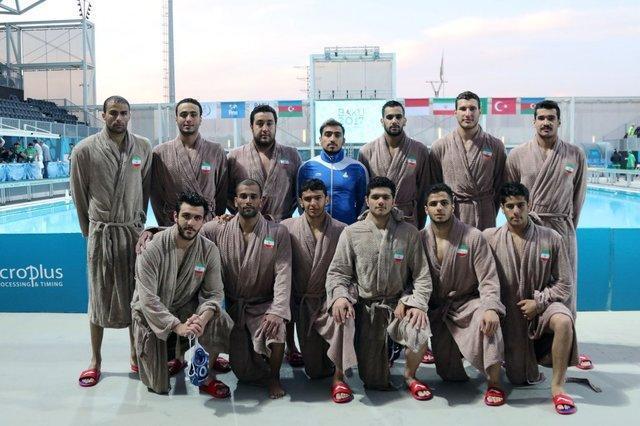 نایب قهرمان تیم ملی واترپلو در بازی های کشورهای اسلامی